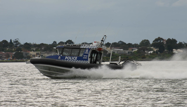 Police boat VP10 speed 35 knots +