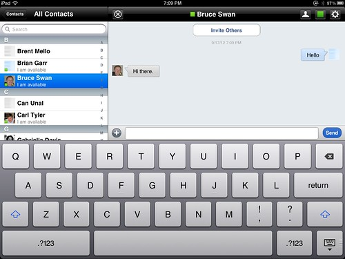 Sametime Chat on