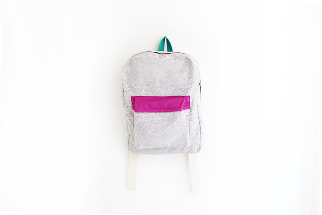 new. geometrical print backpack.