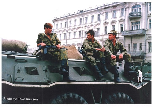 Red army tanks