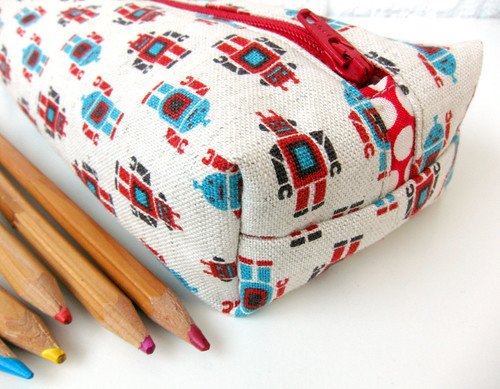Robot pencil case