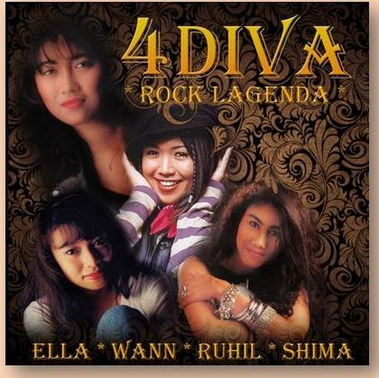 Album Kompilasi 4 Diva Rock Lagenda