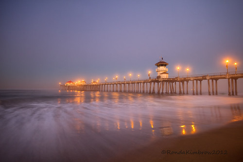 A Predawn Morning ~ Huntington Pier