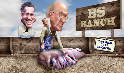 Mr. Romney's Neighborhood - The Land of Teat Suckers