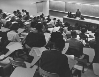 Physics class with Professor Walter Ogier in 1961