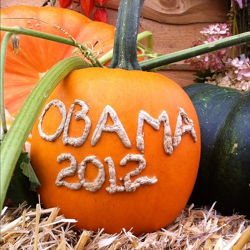 Obama 2012 pumpkin #commongroundfair #cgcf2012 #obama #nofilter #instalater
