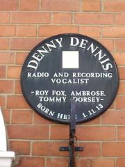 Photo of Denny Dennis black plaque