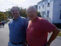 Mayor Byron Rodway and Former Mayor David Hiscock