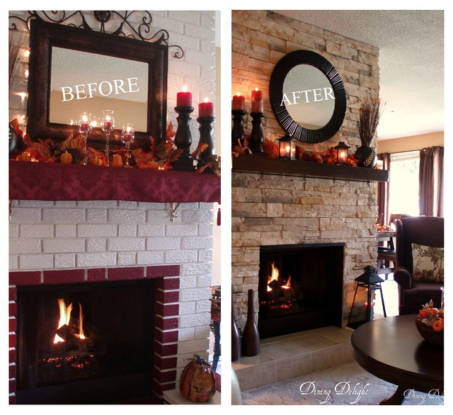 Before After Fireplace Makeover Flickr Photo Sharing