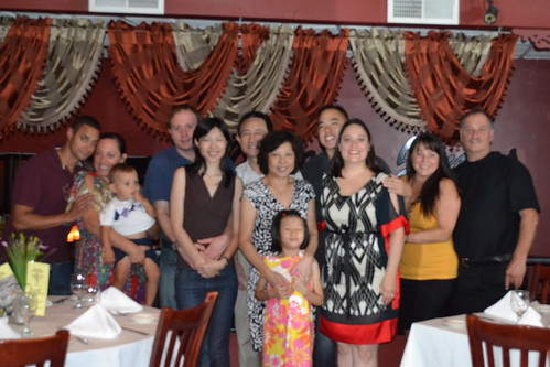 Michelle and Kwan with the family