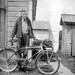 1935 - Mark Prophet & bike - (b&w)