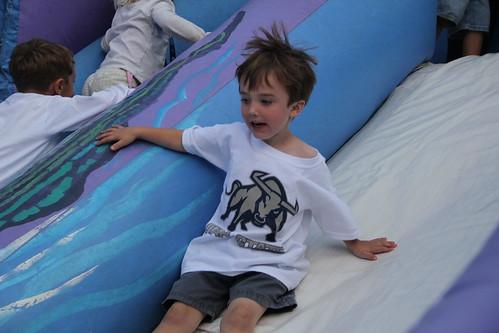 Olsen going fast on the slide