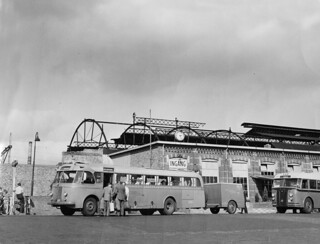 Bus Station in Nyborg Denmark 1949