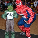 Cameron & Arnie Jew as Little Hulk & Spiderman