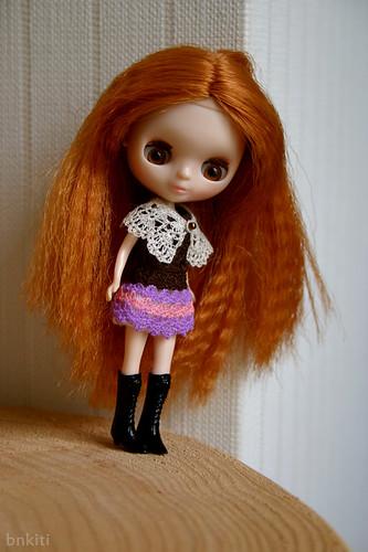 A crochet cape
