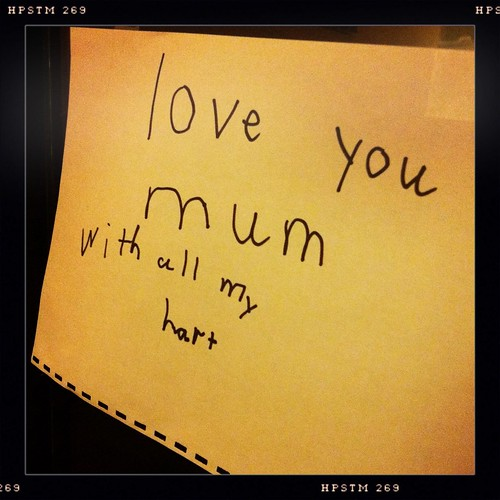 Love you mum. With all my hart. Day 264/366.