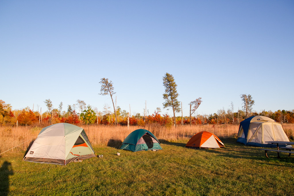 Tents at St. Croix State Park