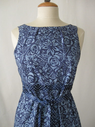 Batik dress front close up