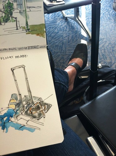 Flight delayed... by artbybernadette