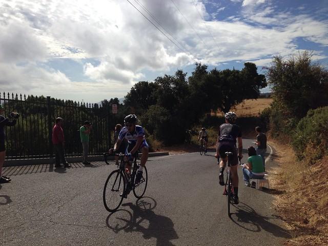 Riders finishing
