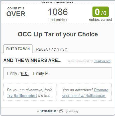 occ lip tar winner