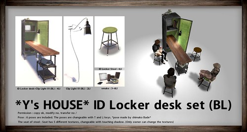 *Y's HOUSE* ID Locker desk set (BL)_for THE MENS DEPT