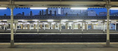 Sheffield Station early in the morning