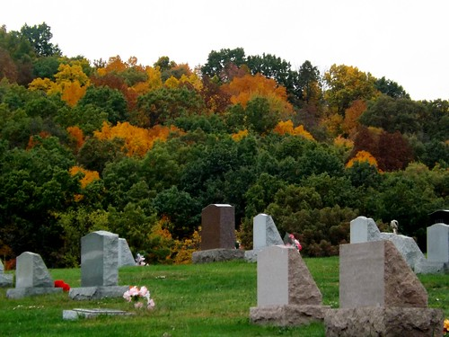 Cemetery at Fall by countrylife4me1