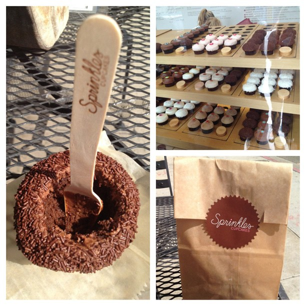 Had my first @Sprinkles cupcake. Had to see what all the hype was about #cupcakes #sprinkles #picstitch
