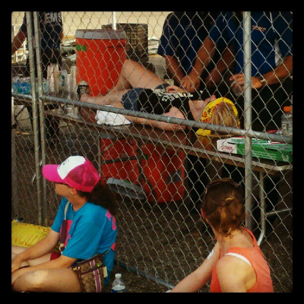 Girl passes out at #warpedtour but is quicly revived.