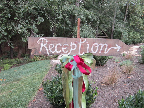 Reception sign: barn wedding ideas