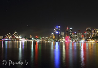 Sydney Opera House with Vivid Lights