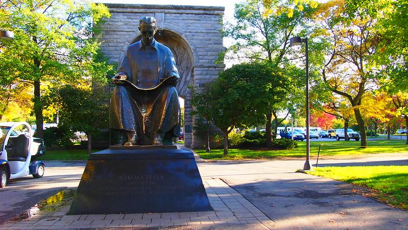 Nicola Tesla statue at Niagara Falls - American Side