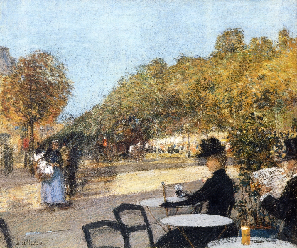 At the Cafe by Frederick Childe Hassam - 1887-1889