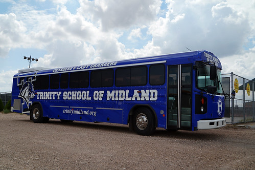 Trinity School of Midland Chargers Blue Bird All American T3RE