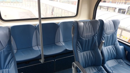 'Arriva' Sapphire Seats on 'Dennis Basford's railroadsrunways.blogspot.co.uk'