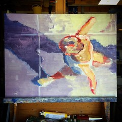 Starting a new painting #aerial #figurativeart #impressionism #artcollector #expressionism