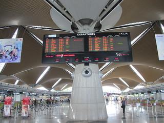 KL International Departures Board