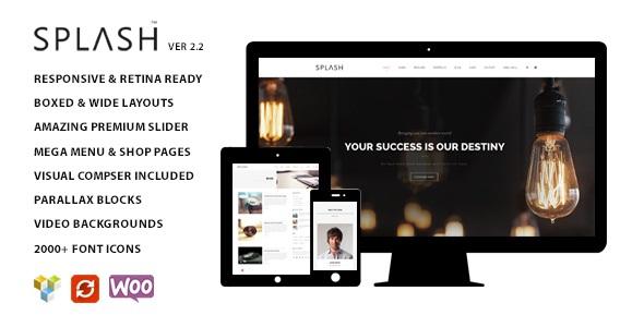 Splash v2.4 - Multipurpose Wordpress Theme