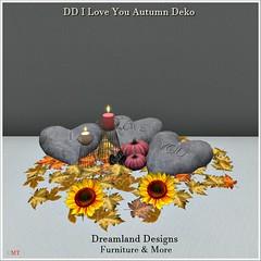 DD I Love You Autumn Deko Vendor