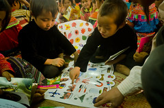 Our early childhood care and development program for children from the ethnic Hmong community provides child-friendly environments where children can learn. Our playing and reading group is designed for children under 11 years old and encourages participation and learning through play.