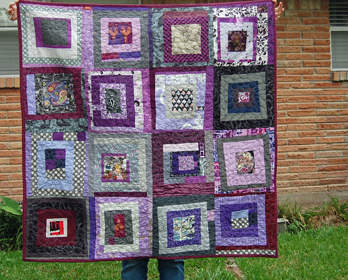 Embroiderbee Quilt - finished 8/25/2012 - this is the back