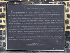 Photo of Francis Drake bronze plaque