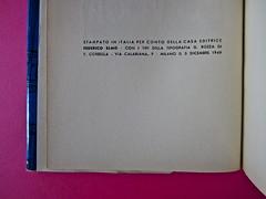Gore Vidal, La città perversa, Elmo editore 1949. (copia 2) Colophon (part.), 1