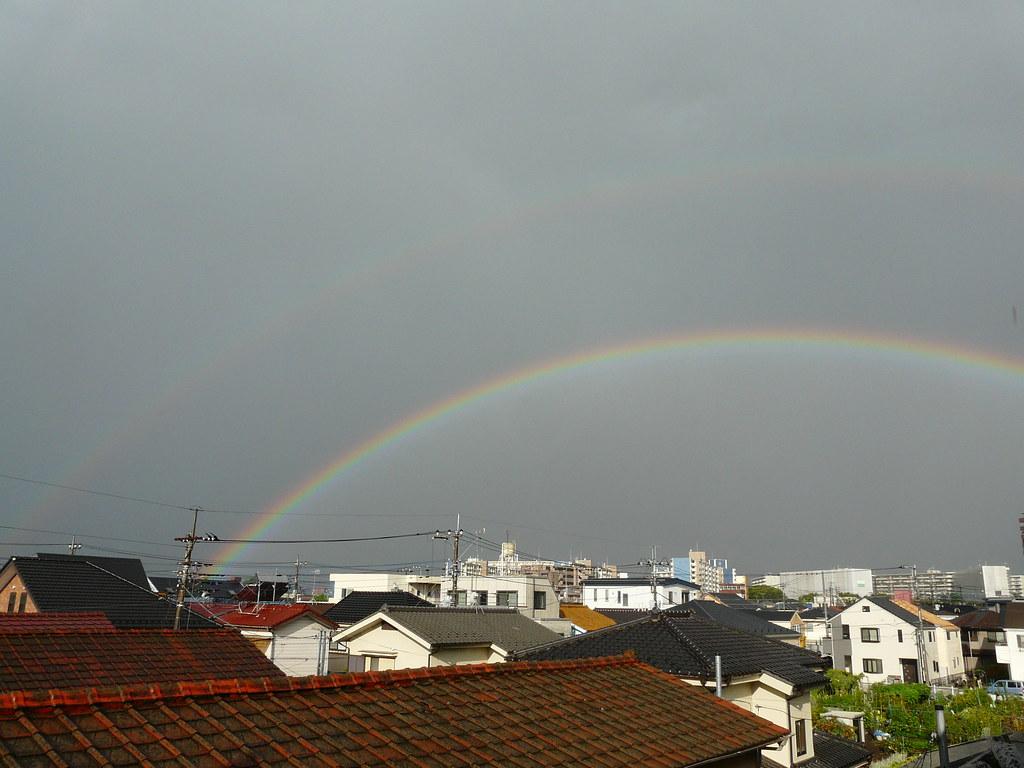 Double Rainbow in Suburban Tokyo