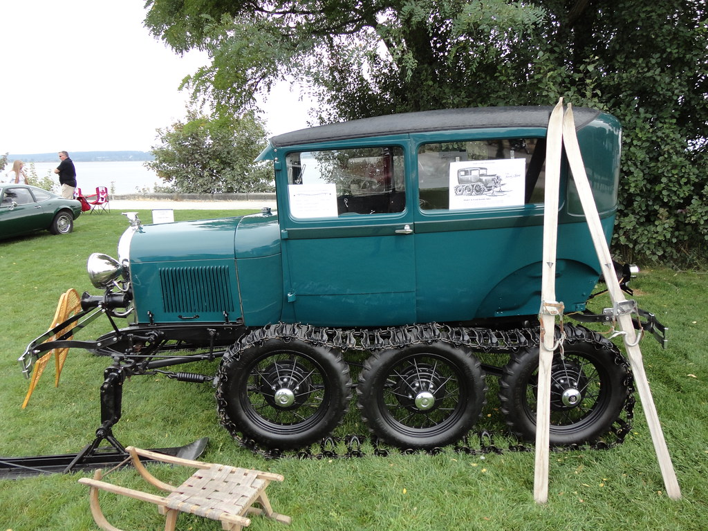 1929 ford model a tudor quot super snowbird quot snowmobile a photo on