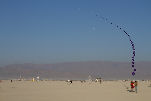 balloons to the moon (Burning Man 2012)