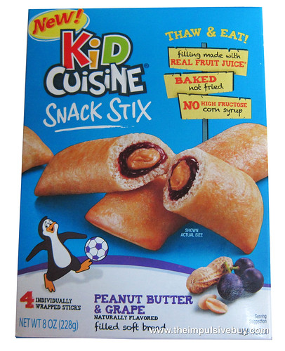 Review kid cuisine snack stix peanut butter grape the for Are kid cuisine meals healthy