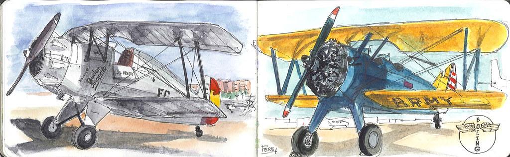 Un Bucker 133 Jungmeister y Boeing Stearman