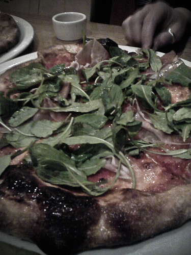 Rustic and blistered, the thin crust pizza at Ragazza, San Francisco